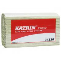 KÄSIPYYHEPAPERI KATRIN CLASSIC C-TAITTO KELTAINEN (16KPL/PUSSI)