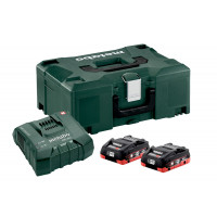 AKKUSETTI METABO 2XLIHD 4.0AH ASC ULTRA+ML