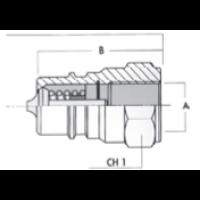 PIKALIITINPISTOKE ISO 7241A