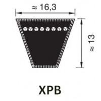 KIILAHIHNA PROFIILI XPB (KORKEUS 13MM LEVEYS 16,3MM)