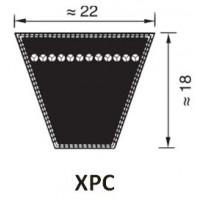 KIILAHIHNA PROFIILI XPC (KORKEUS 18MM LEVEYS 22MM)