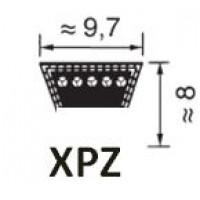 KIILAHIHNA PROFIILI XPZ (KORKEUS 8MM LEVEYS 9,7MM)