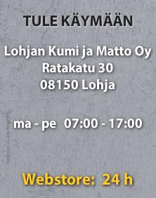 Lohjan Kumi ja Matto Oy - Ratakatu 30, 08150 Lohja